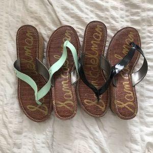 Sam Edelman Wedge Thong Sandals